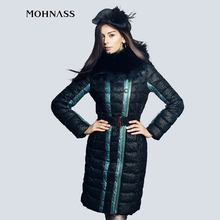 MOHNASS 2015 Winter Clothes New Woman Down jacket Medium-Long Style Coat Real women Tops Fashion Brand  14A8053