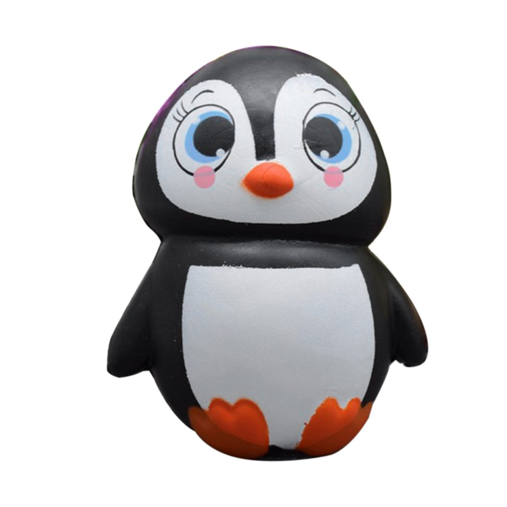 OCDAY Squishy Toy Lovely Cute Cartoon Penguins Slow Rising Toys Kawaii Squeeze Toy Anti Stress Kids Adult Stress Reliever Toy