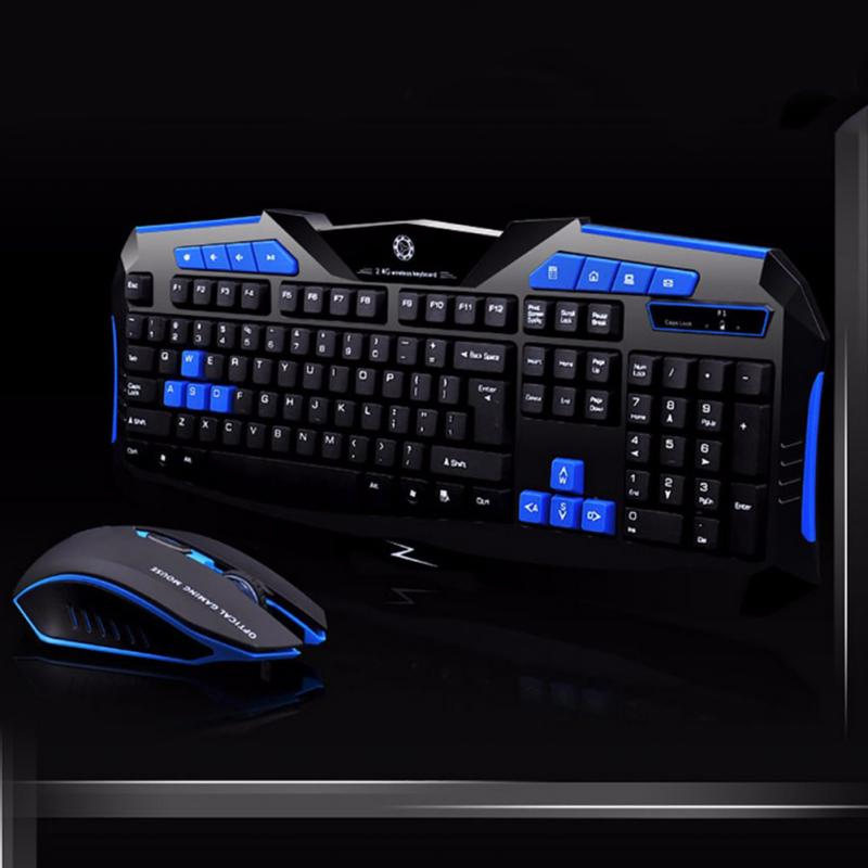 F1 Wireless Keyboard and Mouse suit for Game Home Office Laptop Desktop Ergonomic 2400DPI Waterproof Gaming PC Profession Gamer