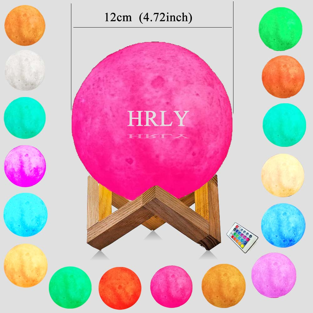3D moon night light 16 Color Change RC Remote Control sleep lamp for baby Kid Lava Lamp Children Day Christmas gift house Decor easter gift remote control led color change night light