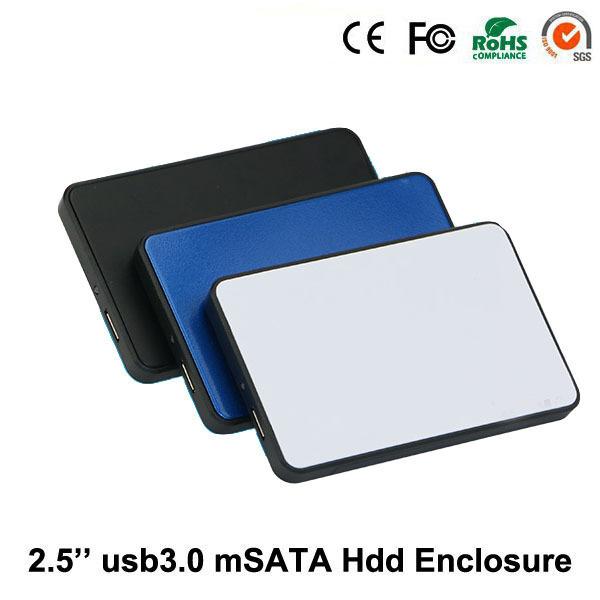 2015 Herramienta de envío caja de plástico usb 3.0 a sata externo 2.5 ''caja de disco duro caja de disco duro de 1 TB de disco duro hdd caddy envío gratis