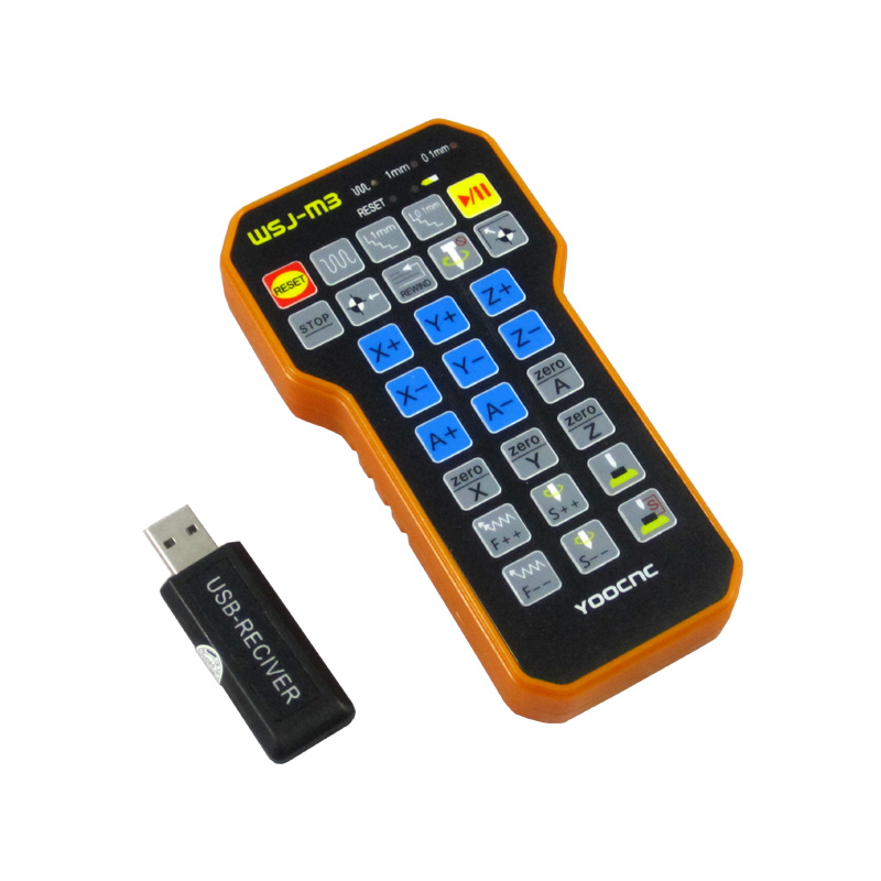 CNC Engraving parts remote control mach3 MPG USB wireless hand wheel for CNC machine in Handwheel from Tools
