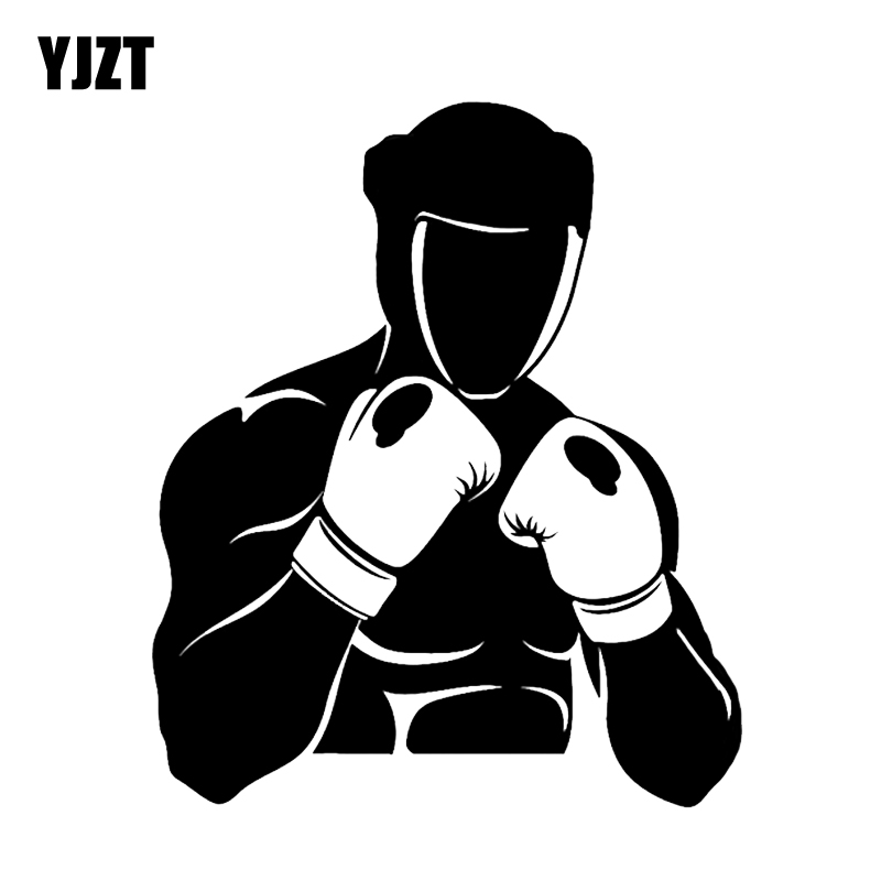 yjzt 12 1 14 5cm unique boxing gloves gym sticker extreme sports