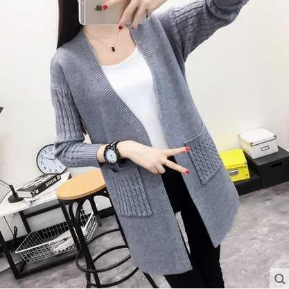 New arrive 2016 Women Wool white Sweater Cardigan Female Cashmere Knitted Plus Size Coat Fashion Long Sleeve Loose Sweater