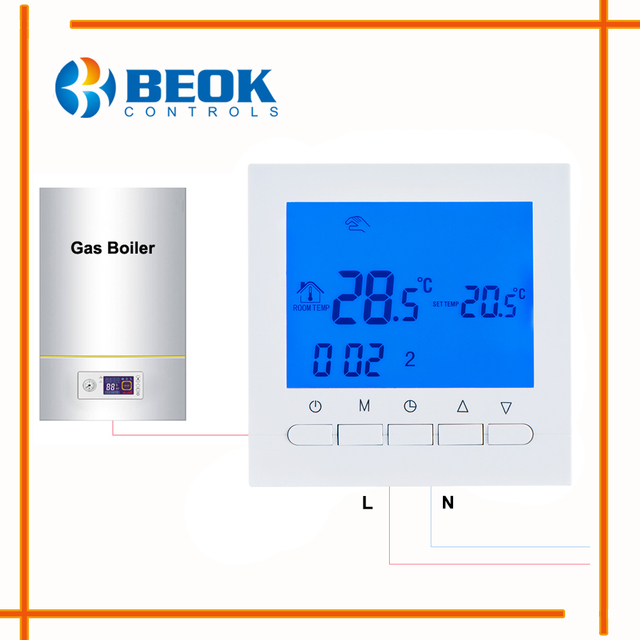 BOT 313W Electrical Battery Powered Gas Boiler Thermostat Room ...