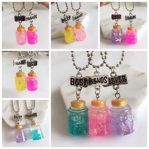 Новинка, модный 1 комплект, имитация разноцветных подвесок для Honeypot, ожерелье для лучших друзей, пищевая цепочка, ожерелье, Детская бижутери...