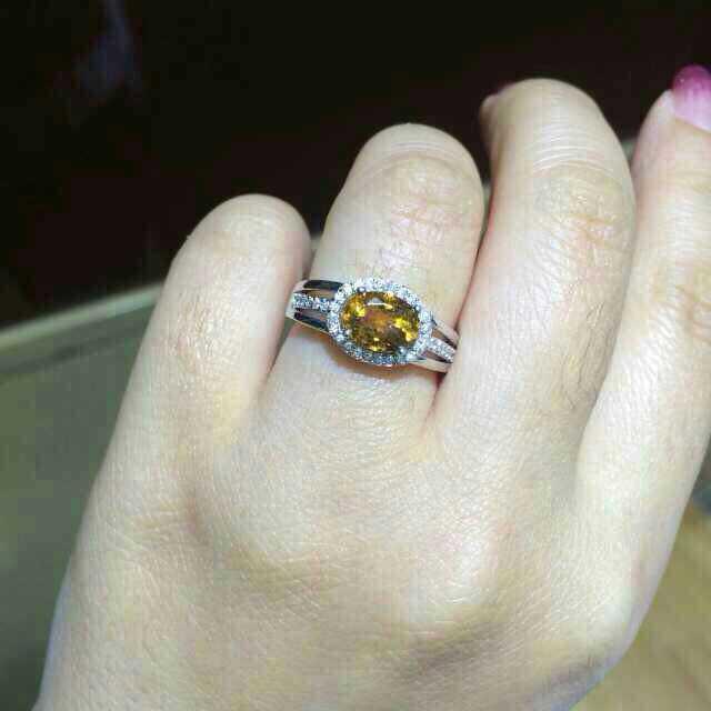 Природный цитрин Кольцо Естественно желтый кристалл Кольцо S925 стерлингового серебра модные Элегантные круглые Тяжелые женщины партия Ювелирных Изделий подарка