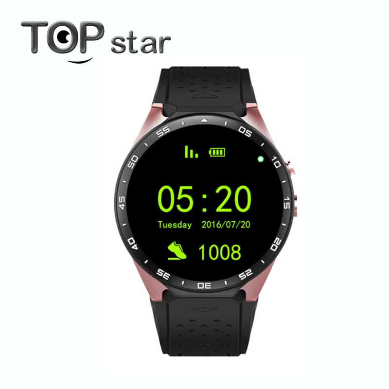 KW88 3G WIFI GPS smart watch Android 5.1 512MB/4GB OS MTK6580 CPU 1.39 inch Scre