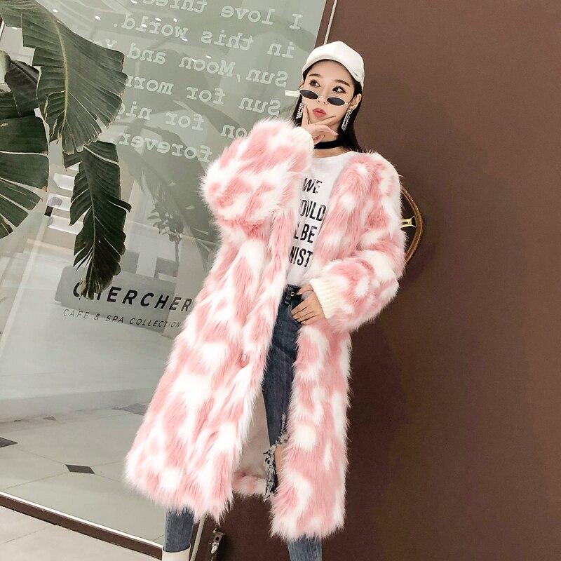 Fourrure Lâche Parka Se Femmes Short Z601 Taille Blue De Manteau Tournent Grande pink Bas Unique Femme Fausse Le En Veste Long Poitrine D'hiver Short Vers blue Épais Col Chaud Moelleux q1vBE5w