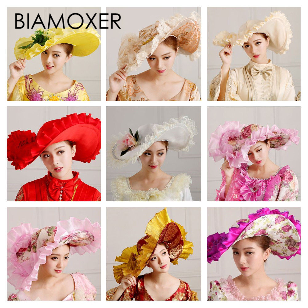 Detail Feedback Questions about Biamoxer Women Vintage Formal Dress  Kentucky Derby Hat Wide Brim Church Cap Medieval Costume on Aliexpress.com   056319cb8f5