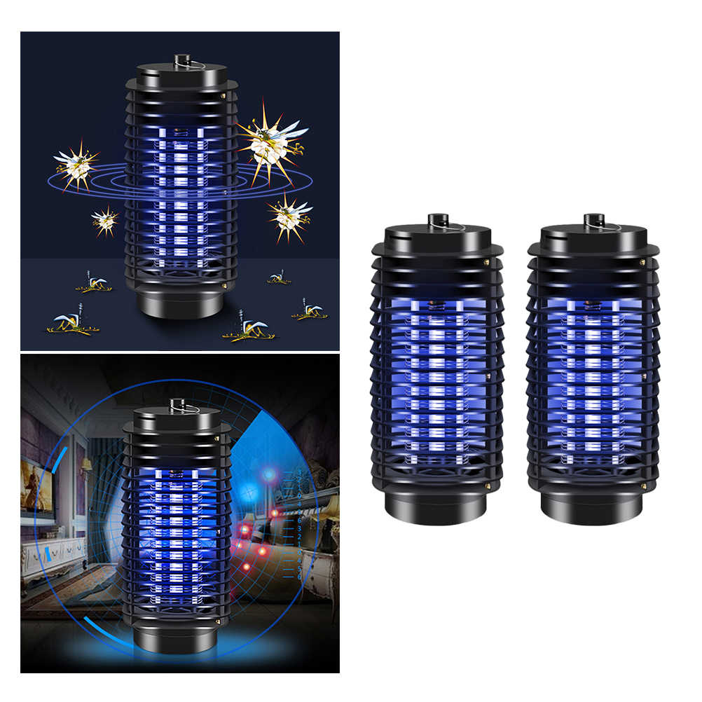 2 sztuk 220V Mosquito Killer lampa UV promieniowania mniej porażenia prądem elektrycznym lampa komar morderca do zabijania owadów światła z 2 ue wtyczka