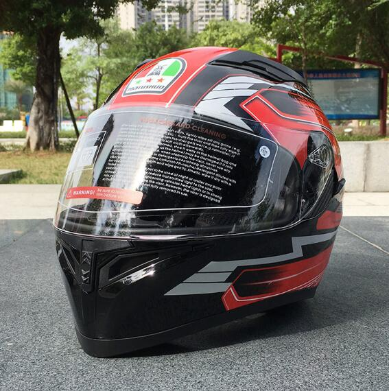 9b9f9260 2018 Marushin motorcycle helmet men's full face helmet professional helmet  game Dot certification double lens 316 black and red -in Helmets from  Automobiles ...