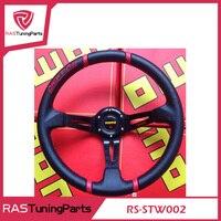 2017 Hot Sale Steering Wheel 350mm MOMO Deep Corn Drifting Steering Wheel Deep Dish Carbon Fiber