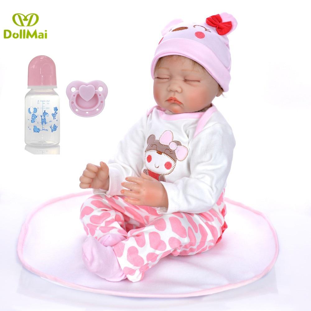 NPK Realistic Reborn Baby Dolls Boy Silicone Full Body 22 Inches Sleeping Baby L