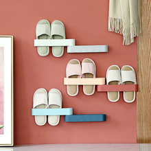 1PC Simple Wall Mount Shoe Rack Slipper Shelf Storage Organizer Plastic Stand Cabinet Display Shoes Hanger