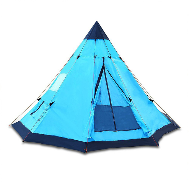 DANCHLE 3.4m Tipi Pop up Tent Sky Blue 6 Person for Family C&ing and Traveling  sc 1 st  AliExpress.com : pop up teepee tent - memphite.com