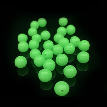 100Pcs/lot 5mm Round Luminous Glow Rig Beads Sea Fishing Lure Floating Float Tackles WD-057
