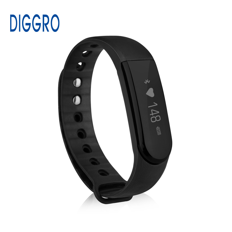 Diggro Original ID101 Smart Bracelet Heart Rate Monitor IP67 Bluetooth 4.0 Sport