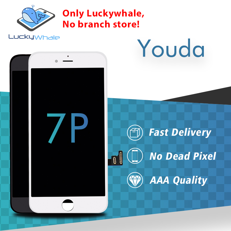 Grade AAA Quality No Dead Pixel AUO YOUDA 5 5 LCD Replacement For iPhone 7 Plus