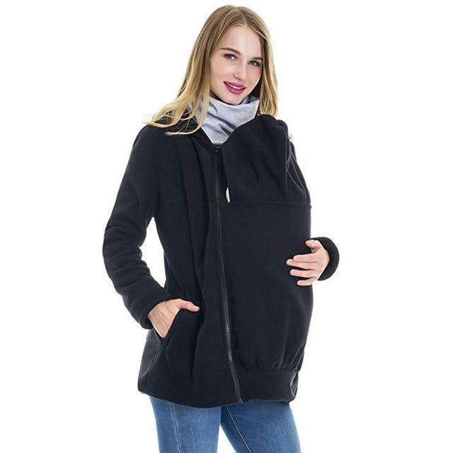 Fashion Baby Carrier Jacket Kangaroo Warm Maternity Hoodies Women Outerwear Coat For Pregnant Womens Casual Zipper Hoody Coats