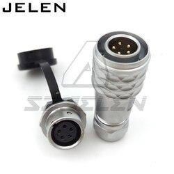 Oryginalny WEIPU SF12 serii 5pin złącze wodoodporne wtyczki i gniazda  12mm do montażu na panelu zasilania elektroniki Złączki kablowe w Złącza od Lampy i oświetlenie na