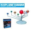 Kit modelo de construção diy os planetas do sistema solar planetário da ciência astronomia pintura brinquedos educativos para crianças presente
