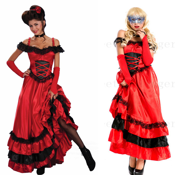 red can can dress costumes women can can dance costume halloween costumes disfraces carnaval plus - Can Can Dancer Halloween Costume