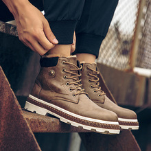 hot deal buy 2018 fashion men's business casual shoes martins ankle boots work shoes high-top hiking shoes warm snow boots chaussure homme
