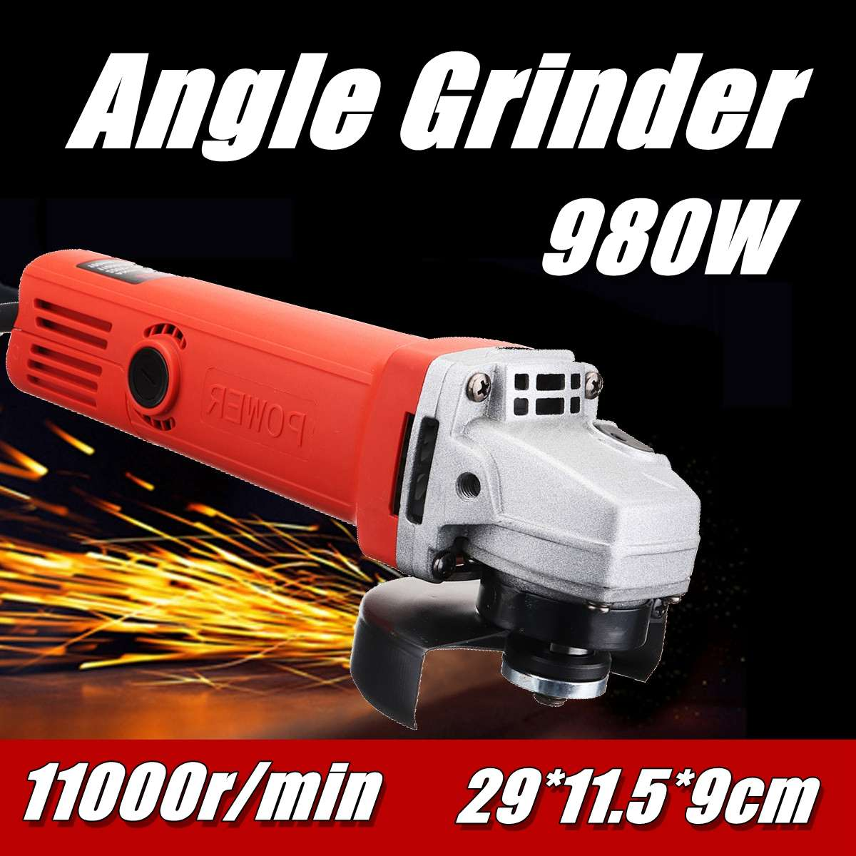 220V/50Hz 980W 11000r/min Protable Electric Angle Grinder Muti Function Cutting Polishing Tools Hand Grinding