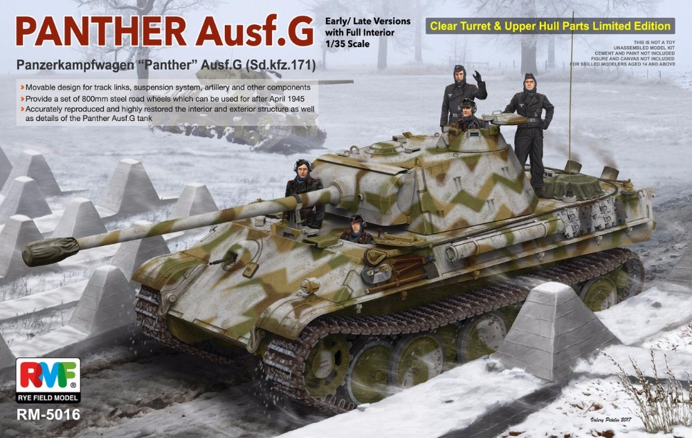 RealTS Rye Field Models 1/35 PANTHER Ausf.G Early/ Late Versions W/ Full Interior # 5016 RMF