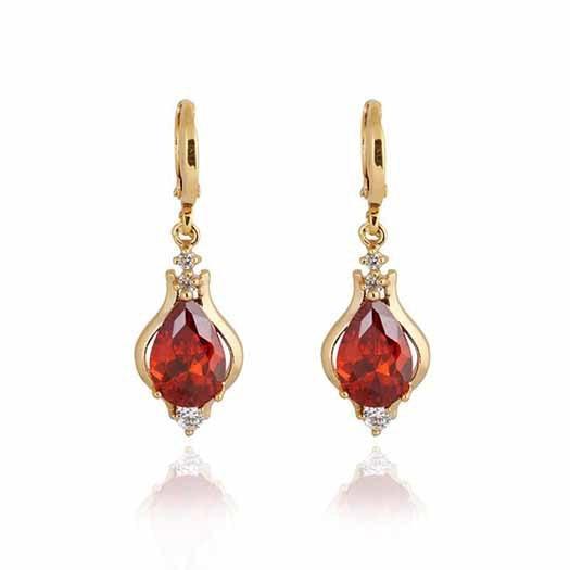 c64f3b84b9f7 Moda cristal gota Pendientes para las mujeres agua gota CZ largo Pendientes  marca joyería nuevo diseño e-brillo joyería