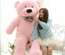 biggest plush pink teddy bear toy huge big eyes bow bear toy stuffed big teddy bear gift 200cm