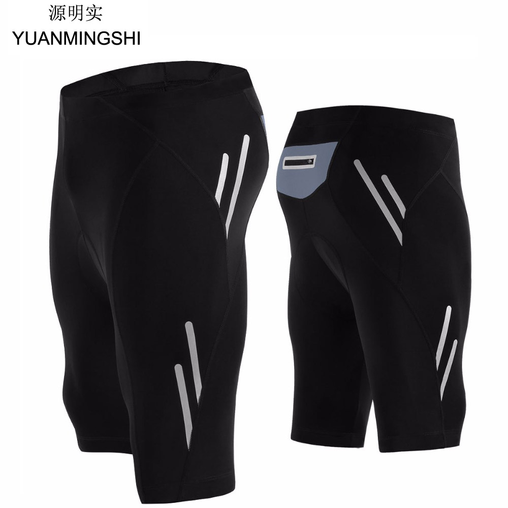 YUANMINGSHI Motorcycle Shorts Men Silicon Gel Cycling Short Comfortable Breathable 3D Padded MTB Mountain Bike Short Under Wear