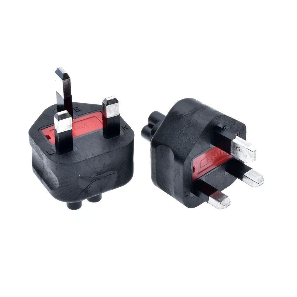 HTB1aItdadfvK1RjSspfq6zzXFXa3 - High quality black Copper Standart 10A 250V British standard to IEC320 C5 power adaptor plug convert socket