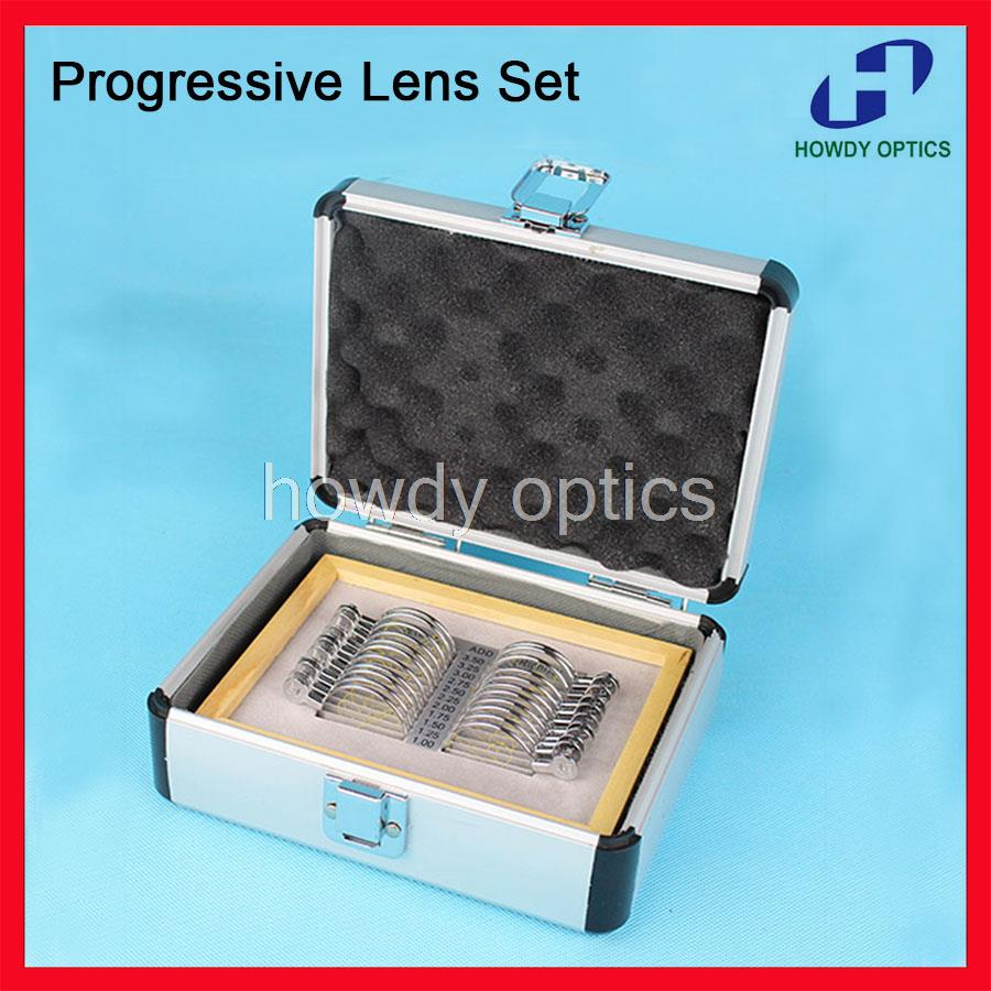 Free Shipping Optical Progressive Lens Set Trial Lens Set Ophthalmic Trial Lenses Case