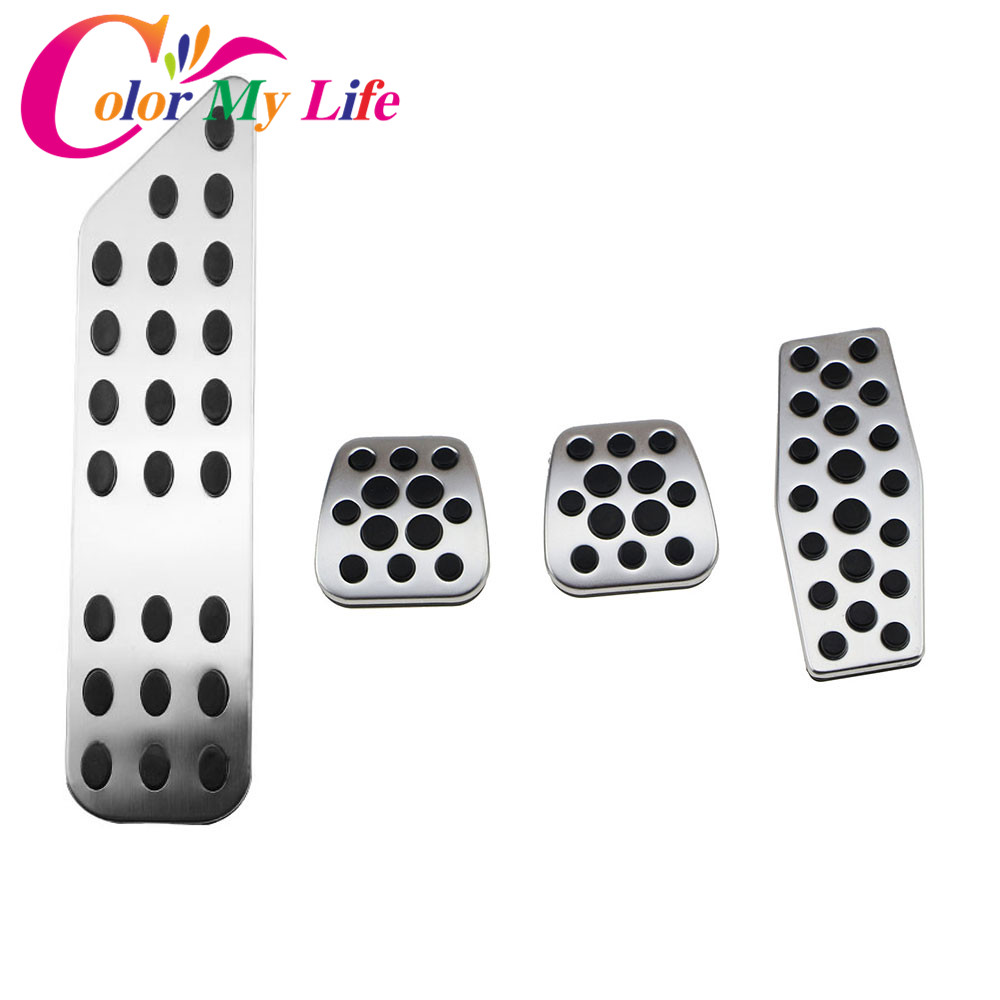 Color My Life Aluminum Alloy Car Rest Pedal Gas Pedal Cover Brake Pedals for <font><b>Chevrolet</b></font> <font><b>Cruze</b></font> for Vauxhall Opel Astra Insignia image