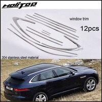 Новое поступление для Jaguar F PACE окно fram/украшения отделка cover.304 нержавеющая сталь, 12 шт., бесплатная доставка для большинства стран.