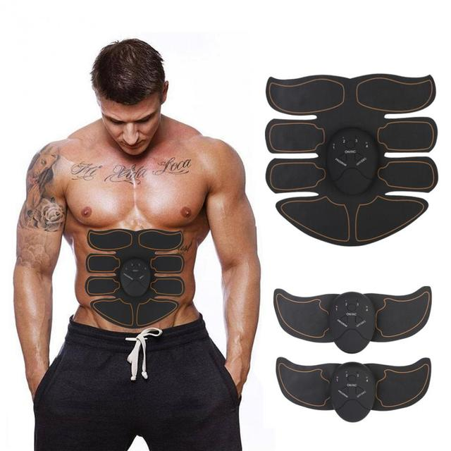 Fat Burner Muscle Stimulator Device EMS Intelligent Abdomen Abs Training Massager Body Building Patch Abdominal Exercise Machine