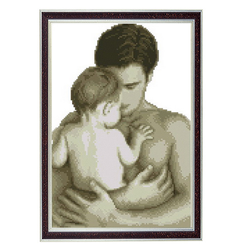 친애하는 사랑, 캔버스에 11CT 패턴 DMC 14CT 크로스 스티치 키트, 바느질 전체 자수 세트, 아빠와 아기 홈 장식