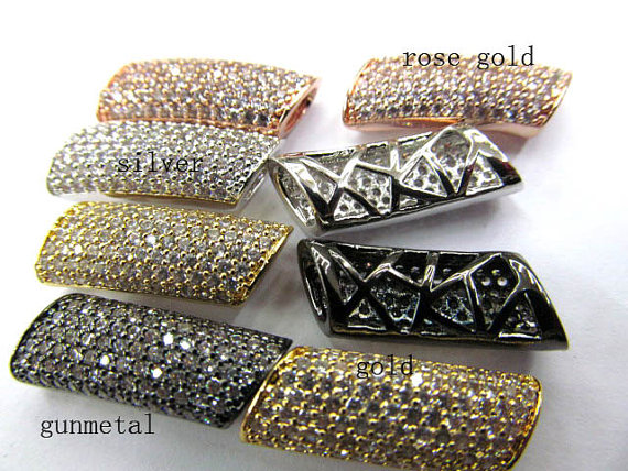 AAA grade 10x20mm 12pcs rhinestone connector pave metal spacer &cubic zirconia crystal column bar jewelry beads