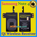 Excelente calidad superior qi receptor cargador inalámbrico qi para samsung galaxy note 4 recibir adaptador de cargador inalámbrico para la nota 4