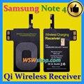 Excelente qualidade superior qi carregador sem fio receiver para samsung galaxy note 4 qi adaptador de carregador sem fio receber para a nota 4