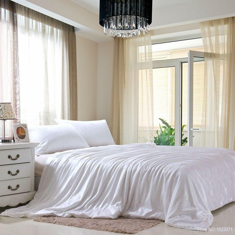 100% шелк тутового чисто Naturals одеяло/постельное белье/одеяло начинка для зимы/лето король, королева Twin Размер Белый /красный цвет