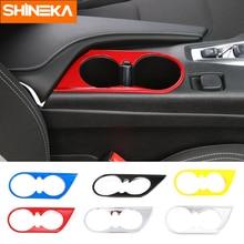 SHINEKA ABS стайлинга автомобилей спереди подстаканник украшения крышка автомобиля обрезная рамка 6th Gen для Chevrolet Camaro 2017