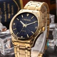 CHENXI Luxury Brand Man Gold Dress Watches Stainless Steel Business Quartz Wrist Watch For Man Waterproof