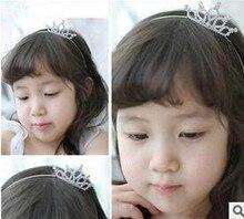 Bebé lindo headwear venda de los niños la venda del bebé tiara rhinestone corona envío gratis