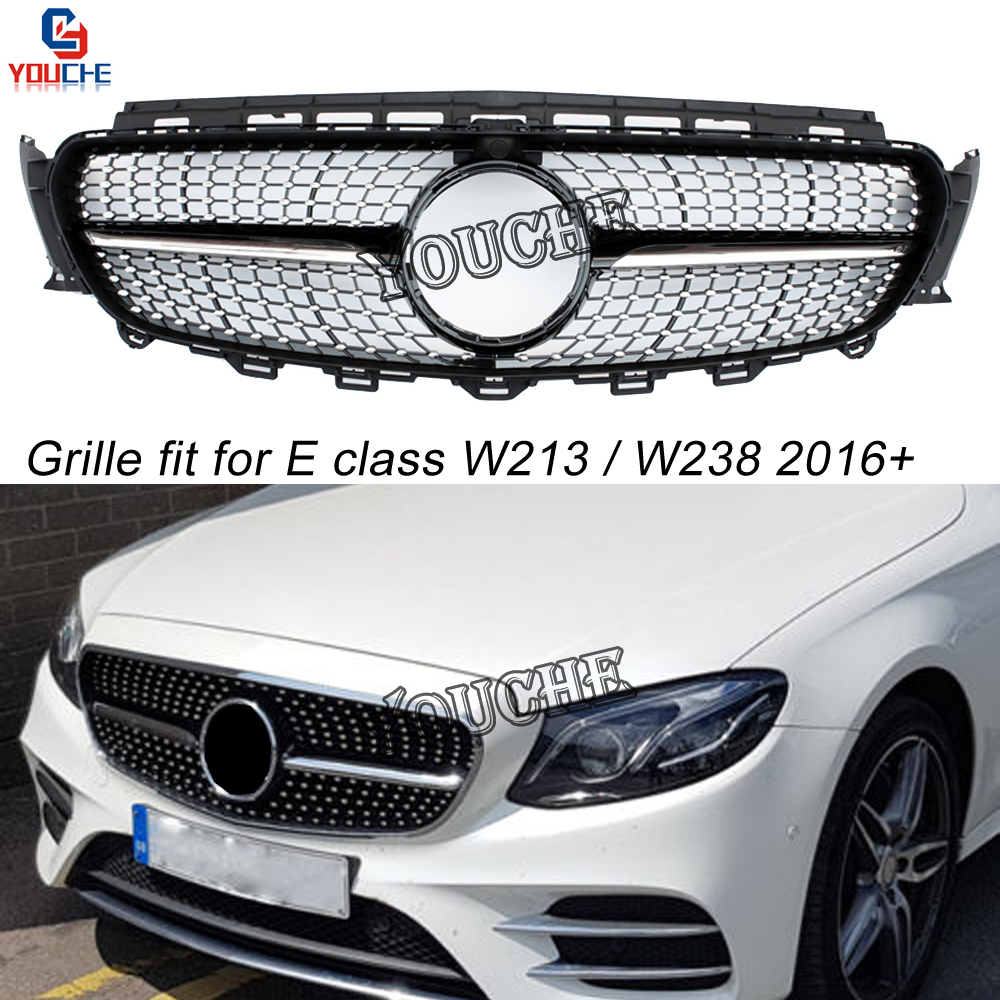 replacement front bumper grille grills for mercedes e. Black Bedroom Furniture Sets. Home Design Ideas