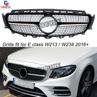 Replacement Front Bumper Grille Grills for Mercedes E class W213 W238 C238 Coupe Sedan Cabriolet Sport AMG Package 2016 +