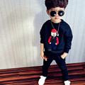 New Autumn Boys Clothing Set 2016 Long Sleeve Space Cotton Cartoon Boy Sportwear Toddler Clothes Kids Tracksuit Boys Casual 2pcs