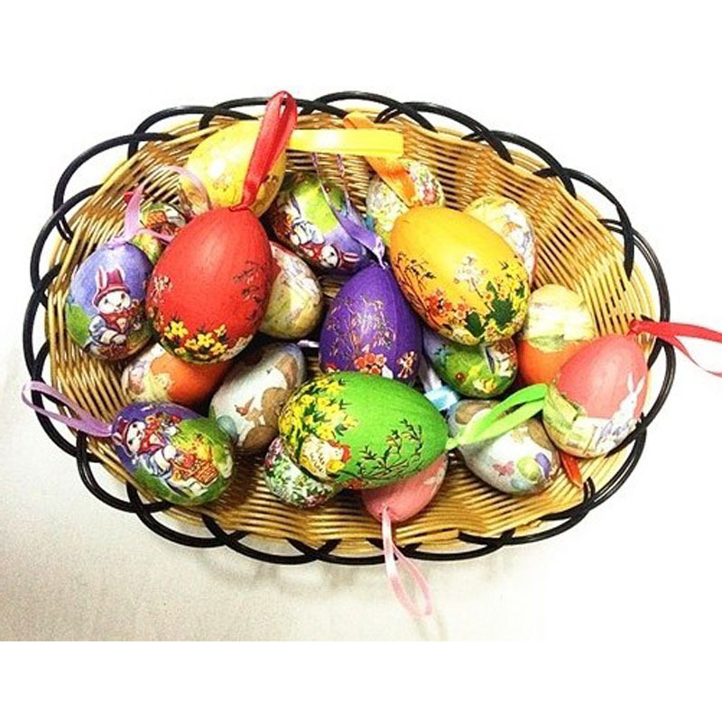 12 pcslot mixed style easter eggs diy cute easter decoration idea 12 pcslot mixed style easter eggs diy cute easter decoration idea peter rabbit gift for kids hand painted foampaper easter egg in party favors from home negle Images